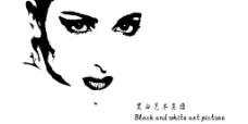 人物女性黑白艺术速写勾勒图片
