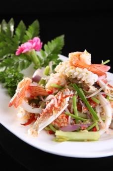 泰式酸辣什锦海鲜沙拉图片