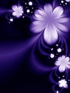 幻彩花朵背景