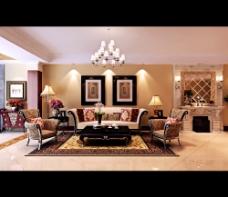 欧式家居客厅