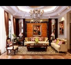 大气的中式客厅