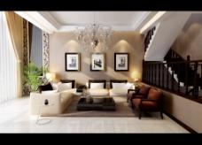 清爽的客厅