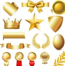 矢量金色装饰元素