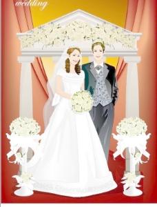 矢量婚礼人物116