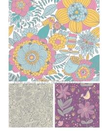 花卉画稿背景