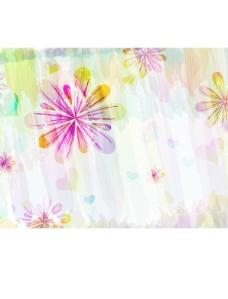 彩绘花卉背景