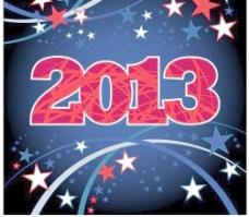 2013新年背景矢量素材图