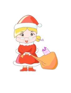 韩国圣诞老人卡通系列AI矢量图008