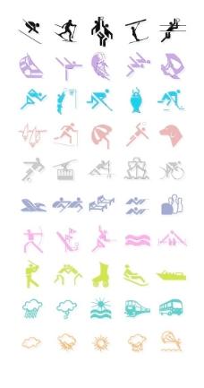 奥运矢量图标二