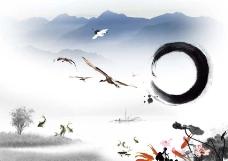 中国风水墨背景