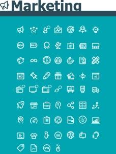矢量市场营销图标图片