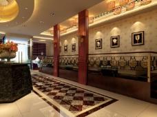 中式豪华的大厅设计