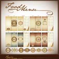 欧式华丽食物菜单模板图片