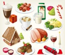 西式美食插图图片