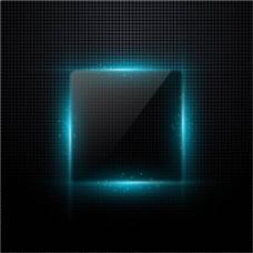 蓝黑色炫光logo背景板
