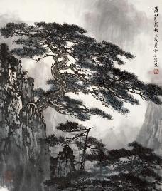 黄山卧龙松图片