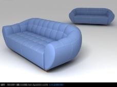 高档沙发创意设计3D模型素材