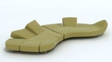 时尚创意设计沙发3D模型素材