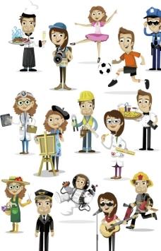 矢量卡通商务人物图片