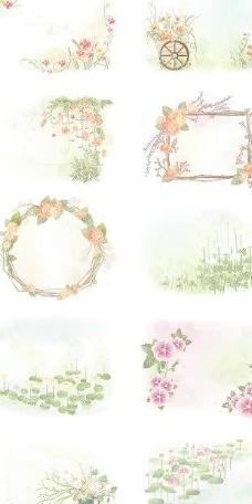 韩国风格的蕾丝系列矢量素材1