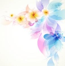 浪漫的花朵背景矢量素材03