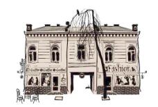 欧洲建筑手绘作品01矢量