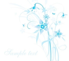简约的蓝色手绘花卉和在背景矢量素材5文本模式