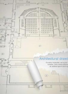 房屋的设计图纸矢量矢量素材01
