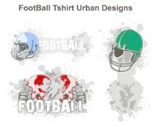 美国足球主题趋势T恤图案矢量素材