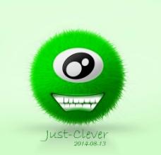 单眼绿毛球怪图片