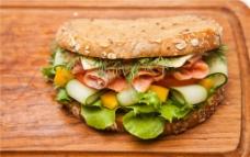 汉堡 三明治快餐图片