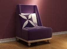 时尚典雅风格沙发创意设计3D模型素材