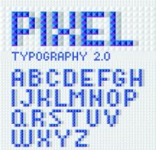像素字母图片