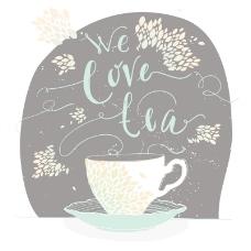 创意茶插画矢量