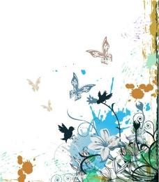 欧式花朵壁纸背景设计图片