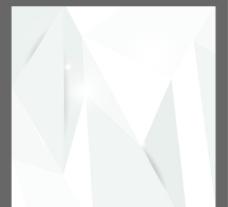 白色立体几何背景图片