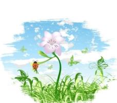 欧式花纹壁纸背景设计图片