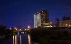 酒店夜景图片