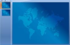 蓝色世界地图