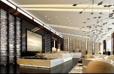 橙色炫丽展厅设计效果图3DMAX模板素材