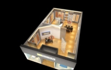简约风格商场展厅效果图