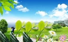 白云蓝天图片