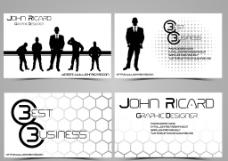 黑白商务名片模板图片