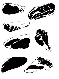手绘肉食图片