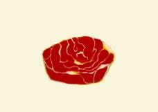 肉食插画图片