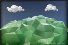 晶體風格山峰圖片