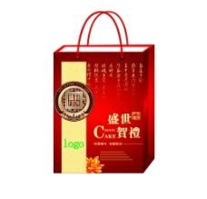 中秋月饼盒手提袋设计图片