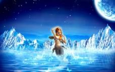 蓝色梦幻妖姬图片
