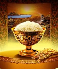 金色背景 米饭图片