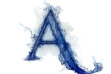 烟雾字母图片